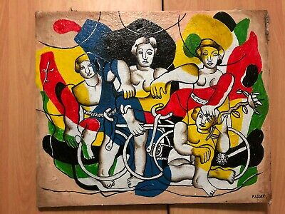 Fernand Leger French Artist Oil Painting On Canvas Signed Sealed 23.5''X 20''