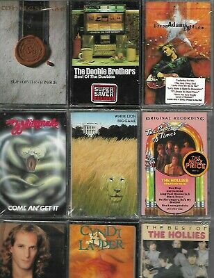 $3.00 Each / You Pick / From Hundards Of Titles. Rock Cassette's Brand New