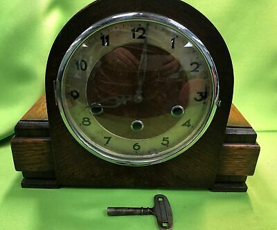 Working Art Deco 1930s Mantel Clock Five Chime Rods 421434 Patent #255