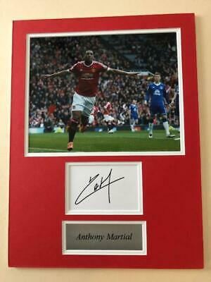 Anthony Martial 'Man Utd' signed & mounted - COA - SALE ITEM