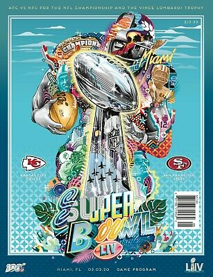 Super Bowl 54 LIV 2020 National Edition Programme - Chiefs vs 49ers slight flaw