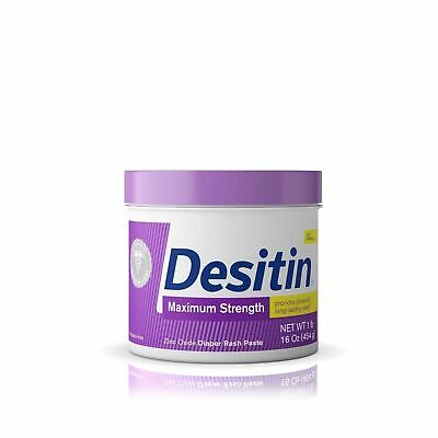 Desitin Maximum Strength Diaper Rash Paste, 16 oz 40% Zinc Oxide Exp: 6/2020