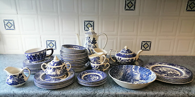 OLD WILLOW Pattern English Ironstone Tableware