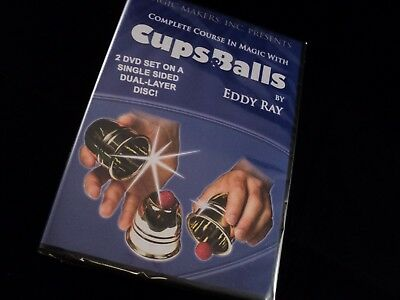 Cups and Balls Complete Course Eddy Ray Magic Trick 2 DVD Set (Brand New)