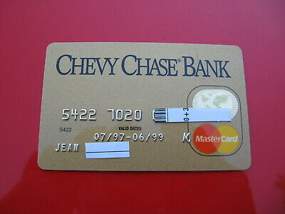 Vintage Old Credit Debit Card: Chevy Chase Bank Mastercard