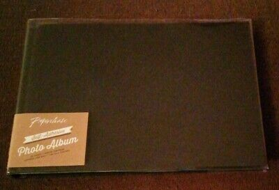 New Black Paperchase 20 Page Self Adhesive Photo Album
