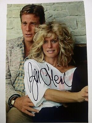 RYAN O'NEAL Authentic Hand Signed Autograph 4X6 Photo with Farrah Fawcett