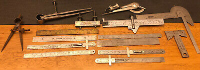 "Starrett No299 General Tool Scales Rulers 6"" Drill Gage Gauge Calipers Toolmaker"