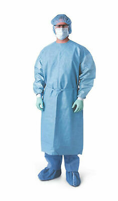 Medline Isolation/ Procedure Gowns Blue Latex Free Xl 10 Per Pack