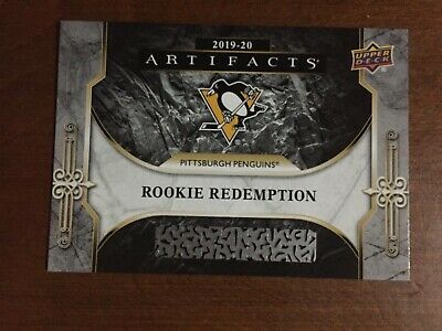 2019-20 Upper Deck Artifacts rookie redemption RED 203 Pittsburgh Penguins