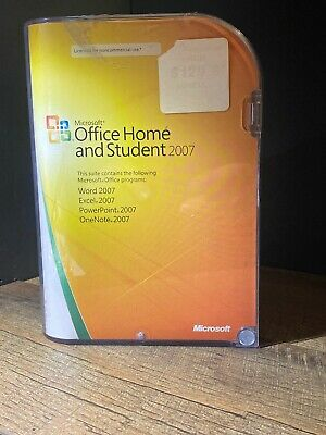 Microsoft Office Home and Student 2007 Genuine Retail Version Original MSRP $129