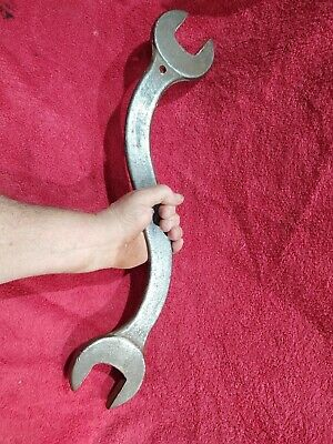 "Vintage S Shaped Railroad Wrench  1 & 3/4"" By 2 & 1/4"" Giant Curved Wrench"
