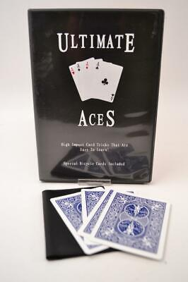 Ultimate Aces High Impact Card Magic Makers DVD Card Magic Trick - #YB-02-021