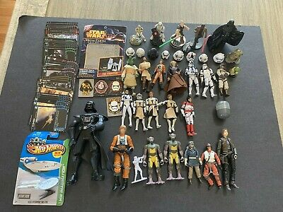 Star Wars Lot Nice Variety Of Action Figures, Cards And More