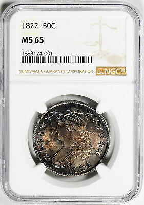 1822 Capped Bust 50C Ngc Ms 65