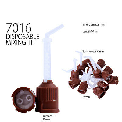 Dental Impression Mixing Tips Silicone Rubber Film - 7016 -Brown(1mm)- 50pcs