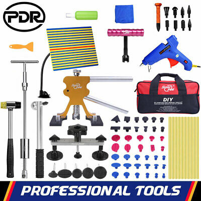 PDR Paintless Dent Removal Slide Hammer Puller Lifter Tab Damage Repair Tool Kit