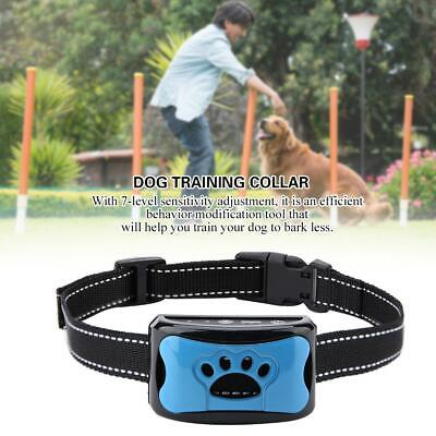 AU Rechargeable Anti No Bark Shock Dog Trainer Stop Barking Pet Training Collars