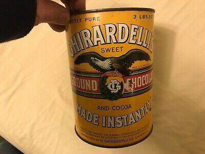 Ghirardelli's Chocolate And Cocoa 3 LBS. Vintage Tin, San Francisco, Cal.