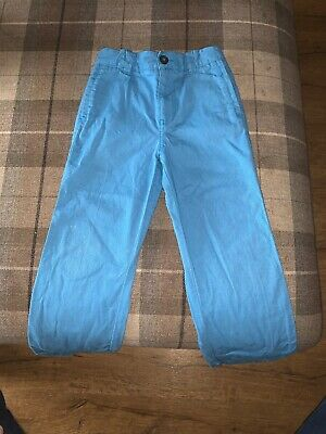 Gorgeous Mini Boden Boys Bright Blue Jeans Chino Trousers Age 6 Hardly Worn