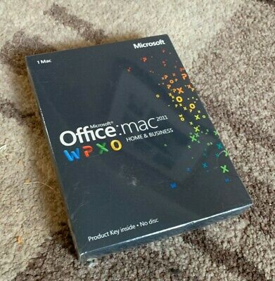 Microsoft Office Mac Home and Business 2011 - New Sealed UK  Boxed