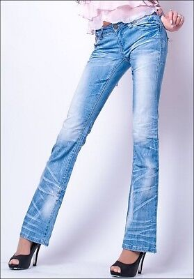 EXTRA jean kelly bell bleu clair delavé TAILLE BASSE M 38 TOP STYLE