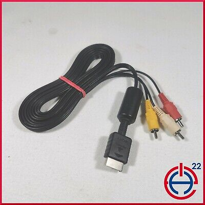 Sony PlayStation PS1 PS2 PS3 Official Genuine AV RCA TV Cable 2.5M