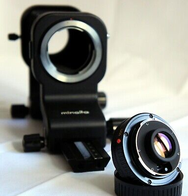 Minolta Auto Bellows Macro 100mm f/4 Lens, TESTED, complete with Bellows IV