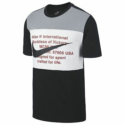 NIKE COL ROND Manches Courtes Sports Haut T Shirt Hommes