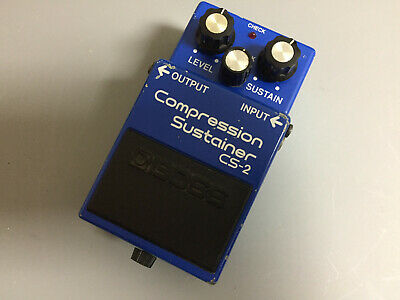 Boss CS-2 Compression Sustainer Guitar Effects Pedal 80s Japan, Compressor