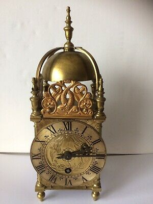 Vintage Rare Mercer 8 Day Platform Escapement Brass Lantern Carriage Clock