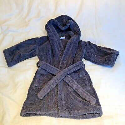 The Little White Company - Navy Dressing Gown - age 18-24 months