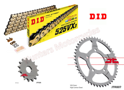D.I.D MXT-010OEM 520DZ2 Gold Chain and 13 Teeth//50 Teeth Sprocket Kit