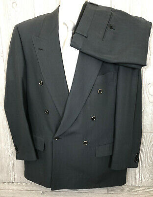 Recent Hugo Boss Mens Slate Grey Double Breated 2pc Suit 40R 33x29.5 (r1)