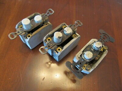 Antique Push Button Light Switch lot of three