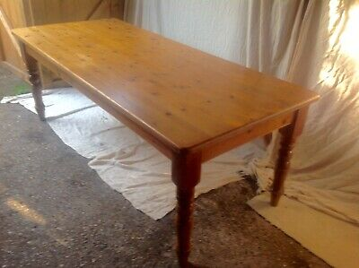 Antique farmhouse 7ft large Pine Kitchen Table