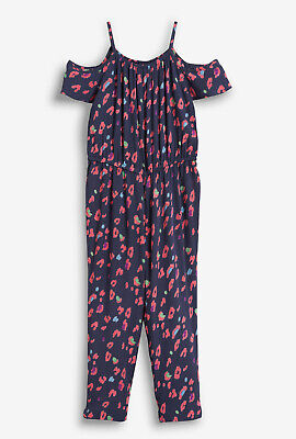 NEXT Girls Navy Animal Print Jumpsuit/Playsuit Age 4 Years BNWT Tag £16