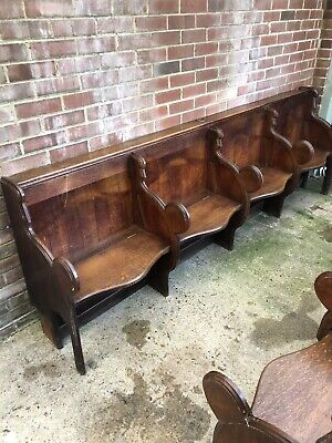 Antique Reclaimed Oak Chorister  Pews. For pub, Home Theatre , Boot Room Etc.