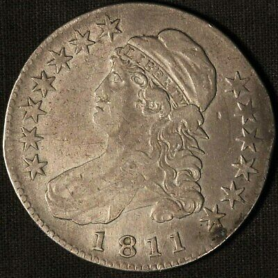 1811 United States Capped Bust 50c Half Dollar - Free Shipping USA