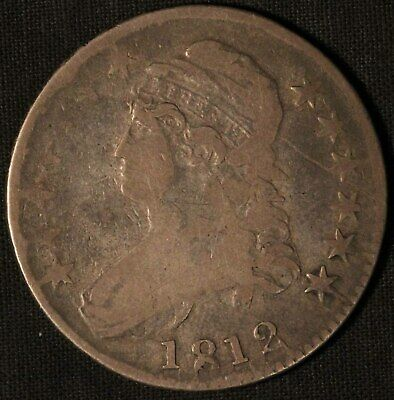 1812 United States Capped Bust 50c Half Dollar - Free Shipping USA