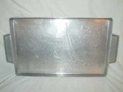 Handmade Wendell August USA Serving Tray Sailboats