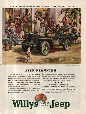 1945 Original Willys Jeep ad - Jeep - Planning! - Sessions