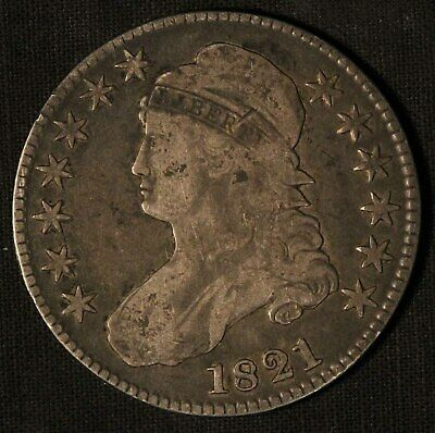 1821 United States Capped Bust 50c Half Dollar - Free Shipping USA