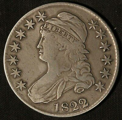 1822 United States Capped Bust 50c Half Dollar - Free Shipping USA