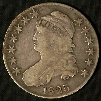 1825 United States Capped Bust 50c Half Dollar - Free Shipping USA