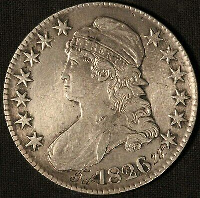 1826 United States Capped Bust 50c Half Dollar - Free Shipping USA