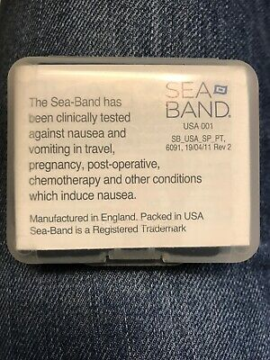 Sea Band adult wristband Black With Case