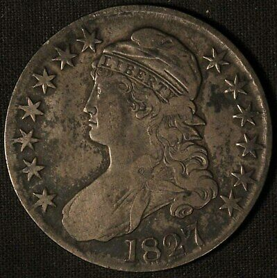 1827 United States Capped Bust 50c Half Dollar - Free Shipping USA