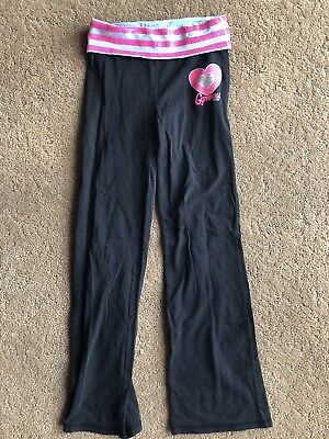 Justice Leggings Yoga Pants Gymnast Girls Size 8 Black