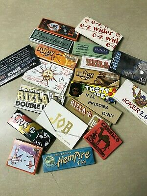 MIXED VARIETY LOT OF 20 Cigarette Rolling Papers Vintage Original Packaging #2